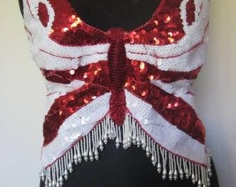 Top butterfly glitter beads
