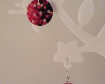 """""""Effervescence"""" red Pearl Earrings"""