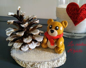 Christmas bear decoration.
