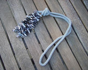 Grey dagger necklace