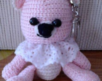 Teddy bear amigurumi Keychain sold crochet