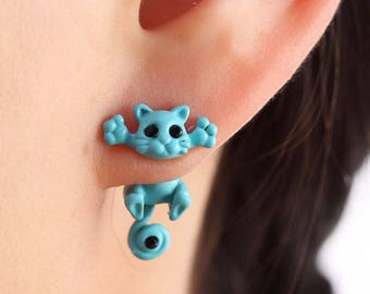 KITTEN STUD EARRINGS set