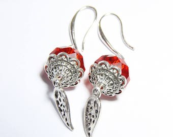 earring Silver 925 and Crystal beads