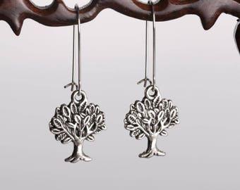 Beautiful pair of earring silver shrub