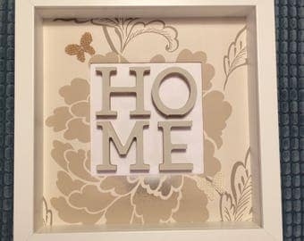 Home and Family crafted frames