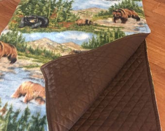 Bears in nature dog blanket