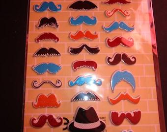 funny moustache stickers Board