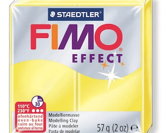 Fimo Effect 57 g - yellow Transparent N 104 - Ref 68020104 - while quantities last!