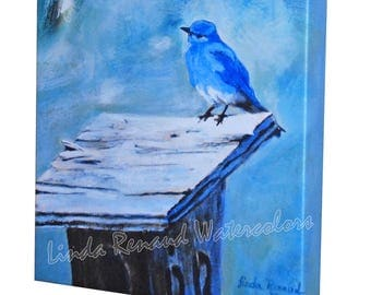 Canvas Print - Mountain Bluebird