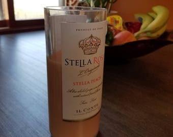 Upcycled Stella Rosa Peach Bottle Soy Candle