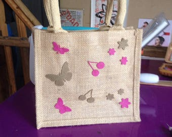 Small burlap bag