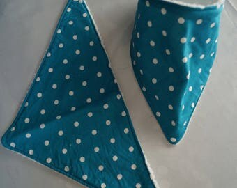 Bavana blue with white dots