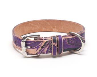 Gothic Leather dog collar