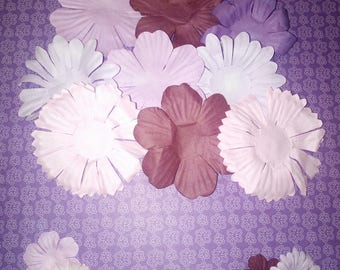 A-002 * SET OF 18 FLOWERS SCRAPBOOKING PAPER EMBELLISHMENTS