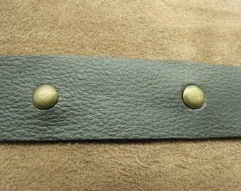 Ribbon with rivet - 4 cm - black Leatherette