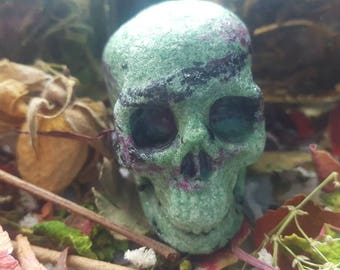 Ruby in Zoisite Crystal Skull