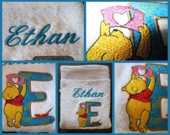 Personalized towel with name and design choice