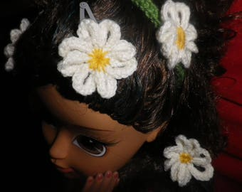 """Hair accessories set """"Daisy"""" for girl"""