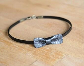Bracelet black leather