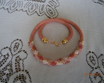 Lovely bright necklace made with SWAROVSKI CRYSTALS and seed beads