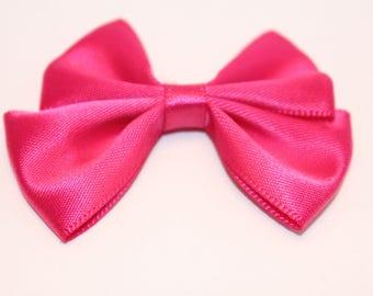 1 40x60mm jewelry scrapbooking bright pink satin bow