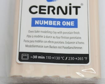 Polymer clay CERNIT Number One color flesh-56 Gr