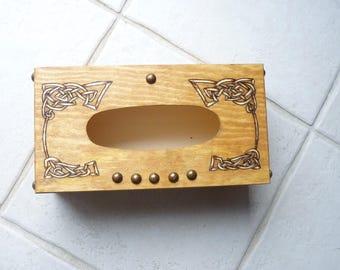 Available: Celtic patterned handkerchiefs box