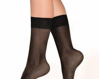 Black – 15 Denier Sheer Calf Highs - 3 pair pack