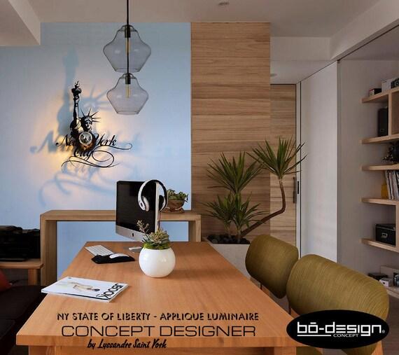 luminaire design applique NEW YORK statue de la liberté 45x36