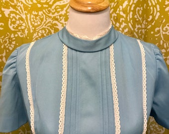Baby blue mod princess minidress with pockets