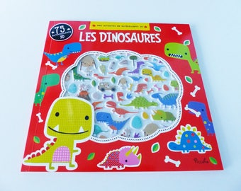 pairs with 75 stickers 3D games differences dinosaurs child activities book coloring maze dssin intruder connecting points