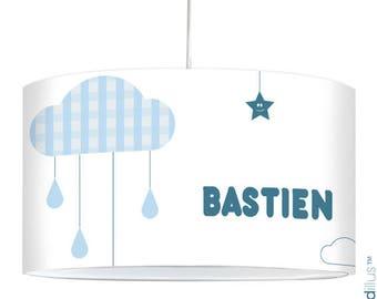 "Lamp ""Cloud and raindrops"" - blue"