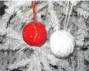 Christmas ornaments, set of 2
