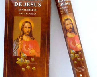 Box of 20 sticks of incense Sacred Heart Jesus