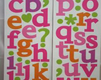 WALL DECALS GIRL * ABC ALPHABET LETTERS * 2 BOARDS