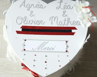 white wedding - christening heart urn