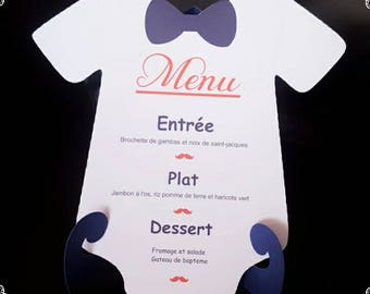 table menu decoration + door menus Mr mustache theme