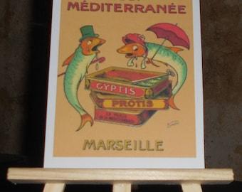 Vintage advertising postcard card