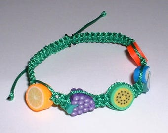 FRUIT green kids bracelet style shamballa