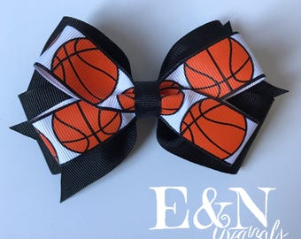 Custom basketball hair bow - basketball hair bows - basketball bows - basketball gifts - basketball accessories - girls basketball
