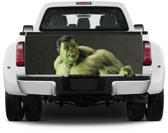 Truck Tailgate Graphics The Incredible Hulk Vinyl Decal Full color Sticker Wrap
