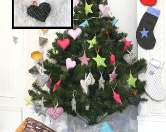 Heart black polka dots Interior, perfect for Christmas tree