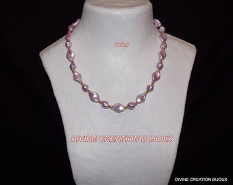 Glass BEAD NECKLACE and matching earrings