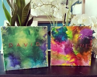 Customized Melted Crayon Art