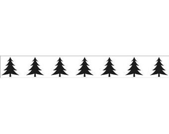 Workbook embossing border tree 15 x 2 cm_BOF002