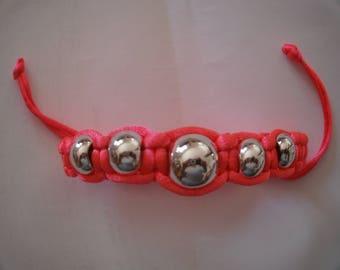 nylon bracelet beads silver