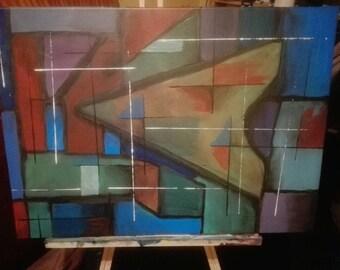 Geometric abstract 2, original.