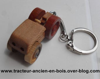 Tractor key in wood