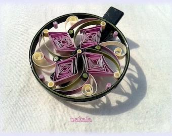 Unique coupon paper glaze spiral round barrette hair clip