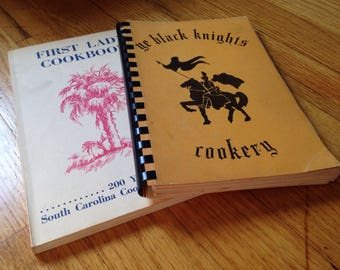 Two Vintage Fundraiser Cookbooks